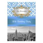 Fiesta de cumpleaños del damasco de BW D4 del hori Comunicados Personalizados