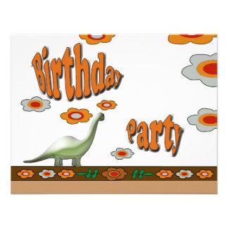 Fiesta de cumpleaños del dinosaurio invitacion personal