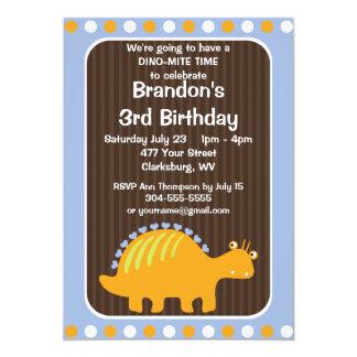Fiesta de cumpleaños del dinosaurio invitación 12,7 x 17,8 cm