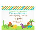 Fiesta de cumpleaños del dinosaurio Invitaions Invitación