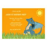 Fiesta de cumpleaños del dragón anuncios personalizados