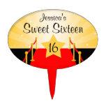 Fiesta de cumpleaños del dulce 16 de Hollywod de l Figura Para Tarta
