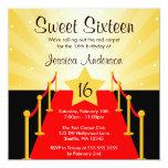 Fiesta de cumpleaños del dulce 16 de Hollywood de Comunicados Personalizados