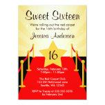 Fiesta de cumpleaños del dulce 16 de Hollywood de Invitación