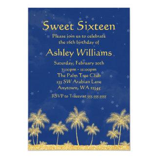 Fiesta de cumpleaños del dulce 16 de las estrellas invitacion personal