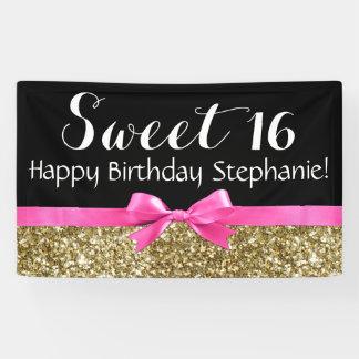 Fiesta de cumpleaños del dulce 16 del brillo del lona