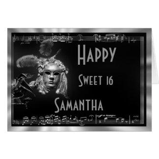 Fiesta de cumpleaños del dulce 16 tarjeton