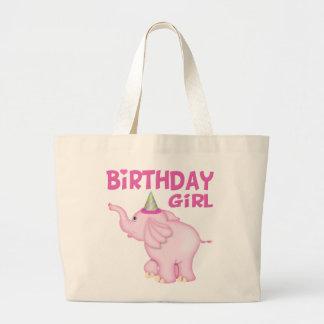 Fiesta de cumpleaños del elefante del chica bolsa