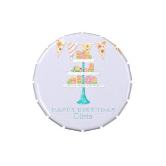 Fiesta de cumpleaños del empavesado de Décorée Mac Jarrones De Caramelos