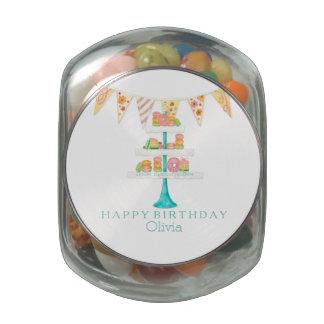 Fiesta de cumpleaños del empavesado de Décorée Mac Jarras De Cristal