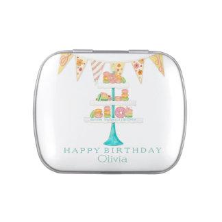 Fiesta de cumpleaños del empavesado de Décorée Mac Frascos De Caramelos