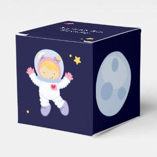 Fiesta de cumpleaños del espacio del astronauta caja para regalo de boda