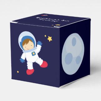 Fiesta de cumpleaños del espacio del astronauta cajas para detalles de boda