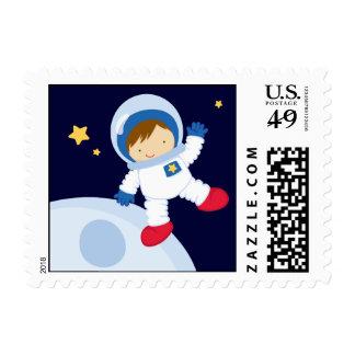 Fiesta de cumpleaños del espacio del astronauta estampilla