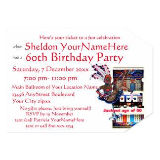 """Fiesta de cumpleaños del estilo de Vegas de la Invitación 5"""" X 7"""""""