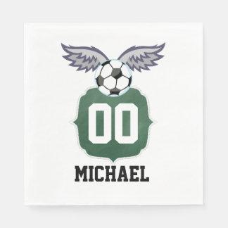 Fiesta de cumpleaños del fútbol/del fútbol servilleta de papel