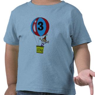 Fiesta de cumpleaños del globo del aire caliente 3 camiseta