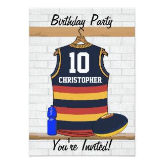 """Fiesta de cumpleaños del jersey de las reglas de invitación 5"""" x 7"""""""