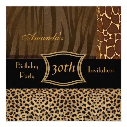 Fiesta de cumpleaños del leopardo animal de la inv