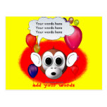 Fiesta de cumpleaños del mono postal