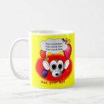 Fiesta de cumpleaños del mono taza de café