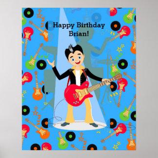 Fiesta de cumpleaños del muchacho de la estrella póster