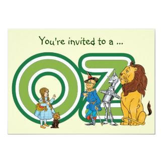 """Fiesta de cumpleaños del muchacho de mago de Oz Invitación 5"""" X 7"""""""