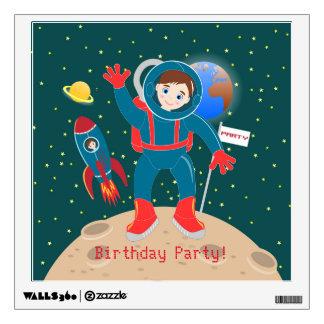 Fiesta de cumpleaños del niño del astronauta