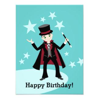 Fiesta de cumpleaños del niño del mago cojinete