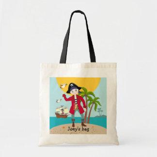 Fiesta de cumpleaños del niño del pirata bolsa tela barata