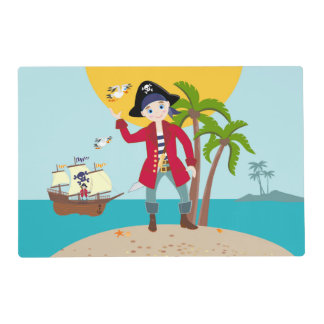 Fiesta de cumpleaños del niño del pirata salvamanteles