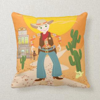 Fiesta de cumpleaños del niño del vaquero almohadas