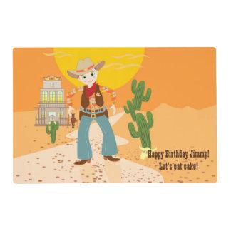 Fiesta de cumpleaños del niño del vaquero tapete individual