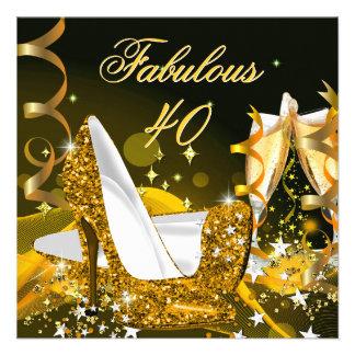 Fiesta de cumpleaños del oro de las 40 mujeres fab anuncios