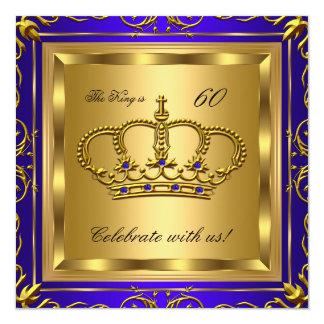 Fiesta de cumpleaños del oro del azul real del rey