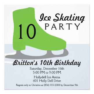 Fiesta de cumpleaños del patinaje de hielo de la f anuncio