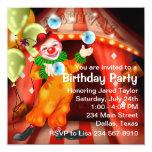 Fiesta de cumpleaños del payaso de circo de la comunicado