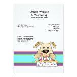 Fiesta de cumpleaños del perro invitación 12,7 x 17,8 cm