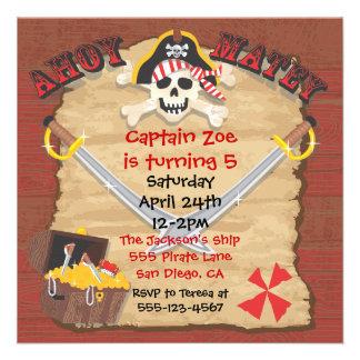 Fiesta de cumpleaños del pirata con el parte movib comunicados
