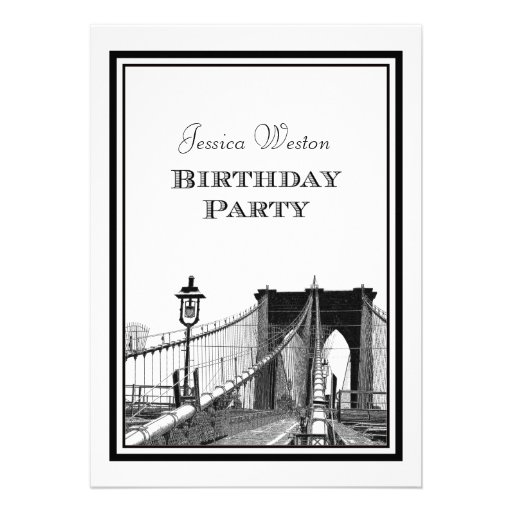 Fiesta de cumpleaños del puente de Brooklyn del ho Anuncio