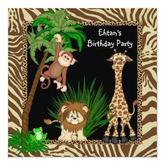 Fiesta de cumpleaños del safari de selva de los comunicados personales