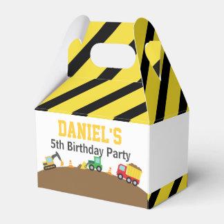 Fiesta de cumpleaños del tema de los vehículos de cajas para regalos de fiestas