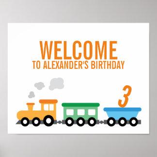Fiesta de cumpleaños del tren póster