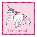 Fiesta de cumpleaños del unicornio comunicado personalizado