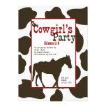 Fiesta de cumpleaños del vaquero invitaciones personalizada