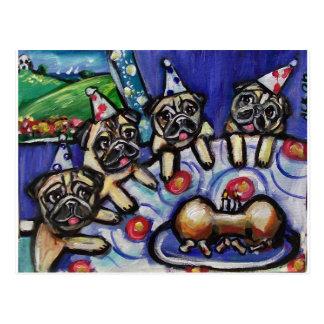 fiesta de cumpleaños del verano de los barros tarjeta postal