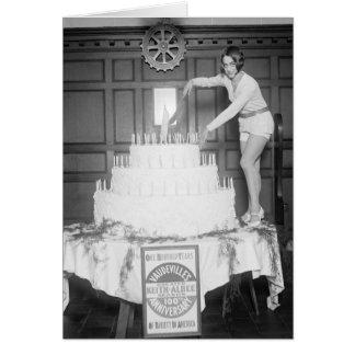 Fiesta de cumpleaños del vodevil: 1926 tarjeta de felicitación