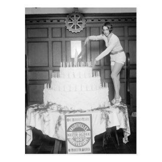 Fiesta de cumpleaños del vodevil: 1926 postal