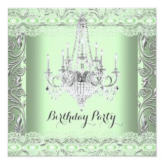 """Fiesta de cumpleaños elegante de la lámpara del invitación 5.25"""" x 5.25"""""""