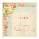 Fiesta de cumpleaños elegante de la sorpresa de invitaciones personalizada